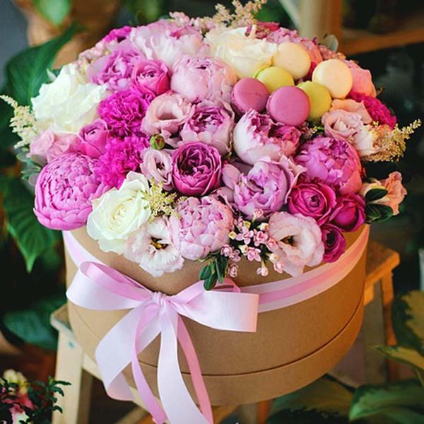 Цветы в коробке №10